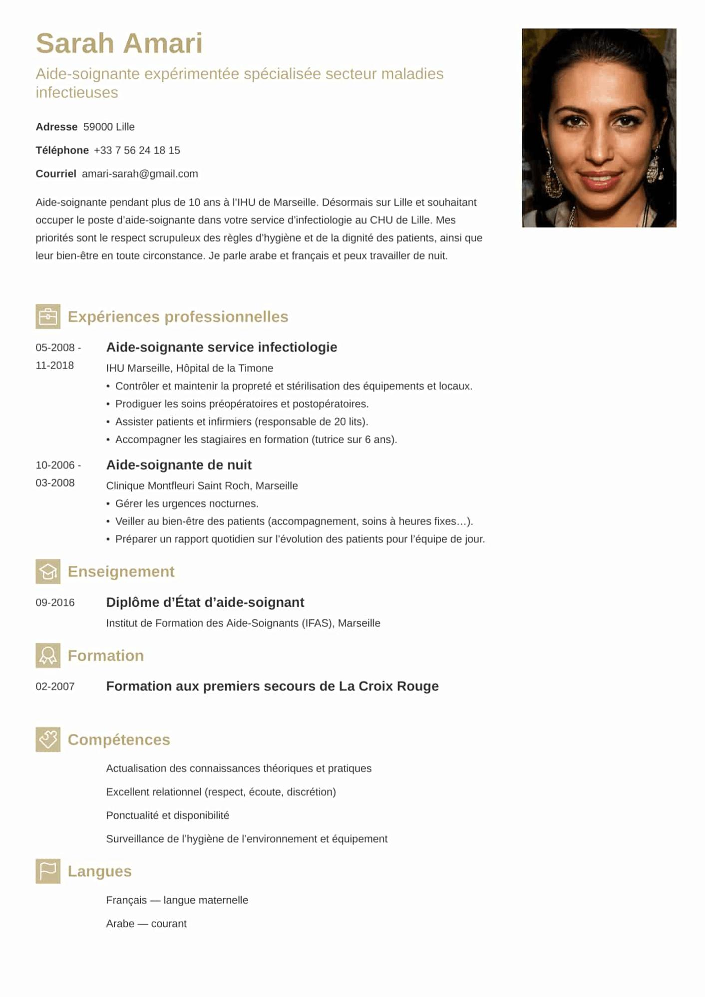 CV aide-soignant(e)