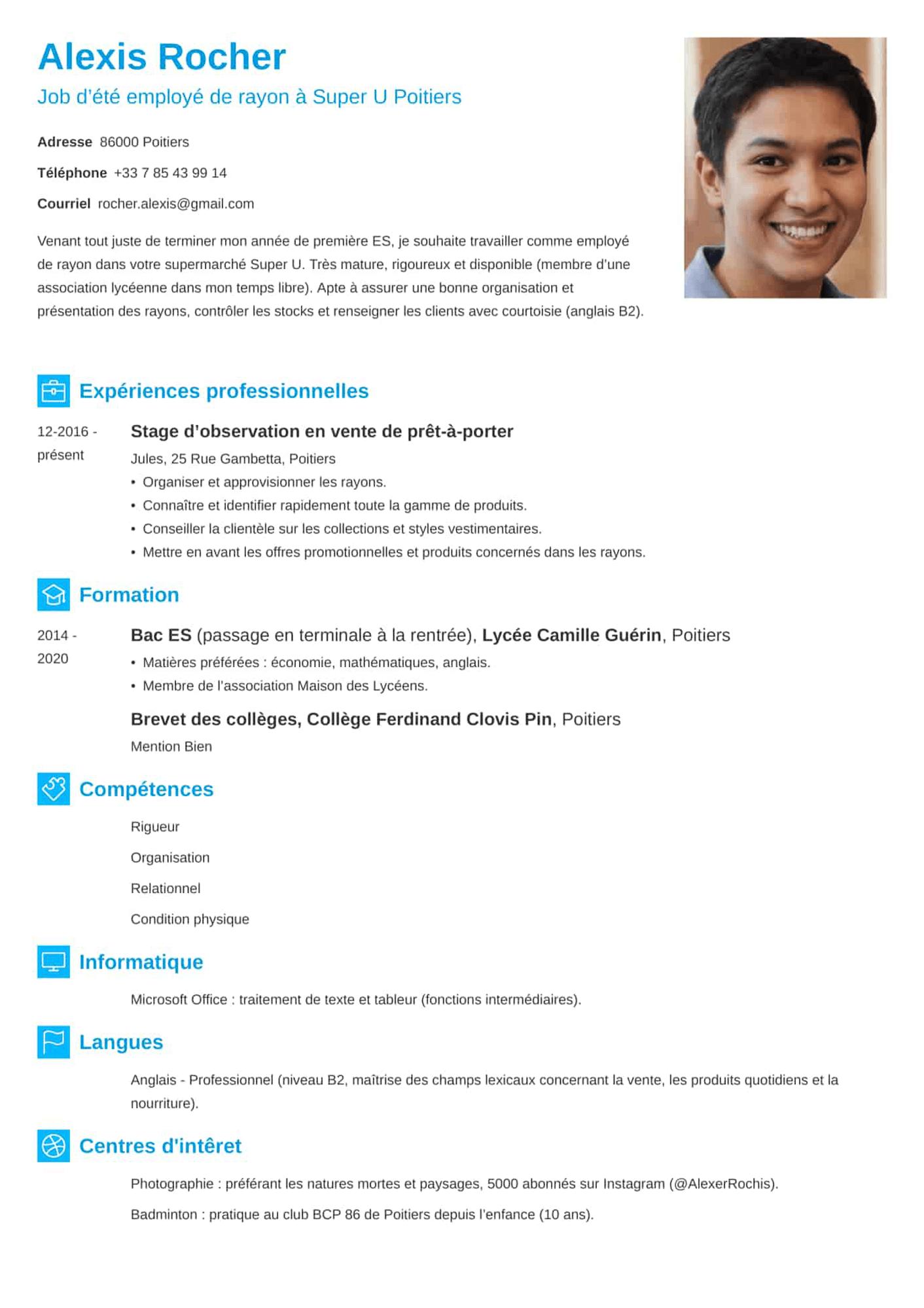 Exemples de CV simples et professionnels (tout type d'emploi)