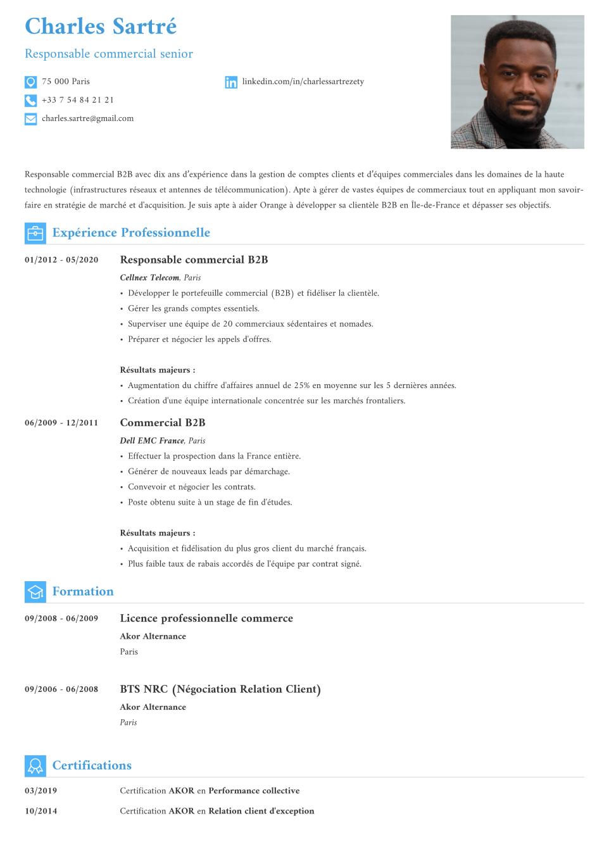 Modèle de CV classique