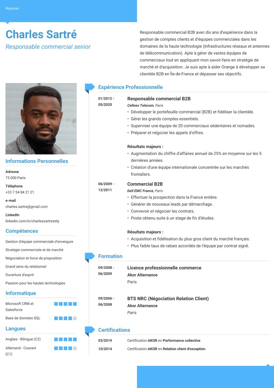 Modèle de CV moderne