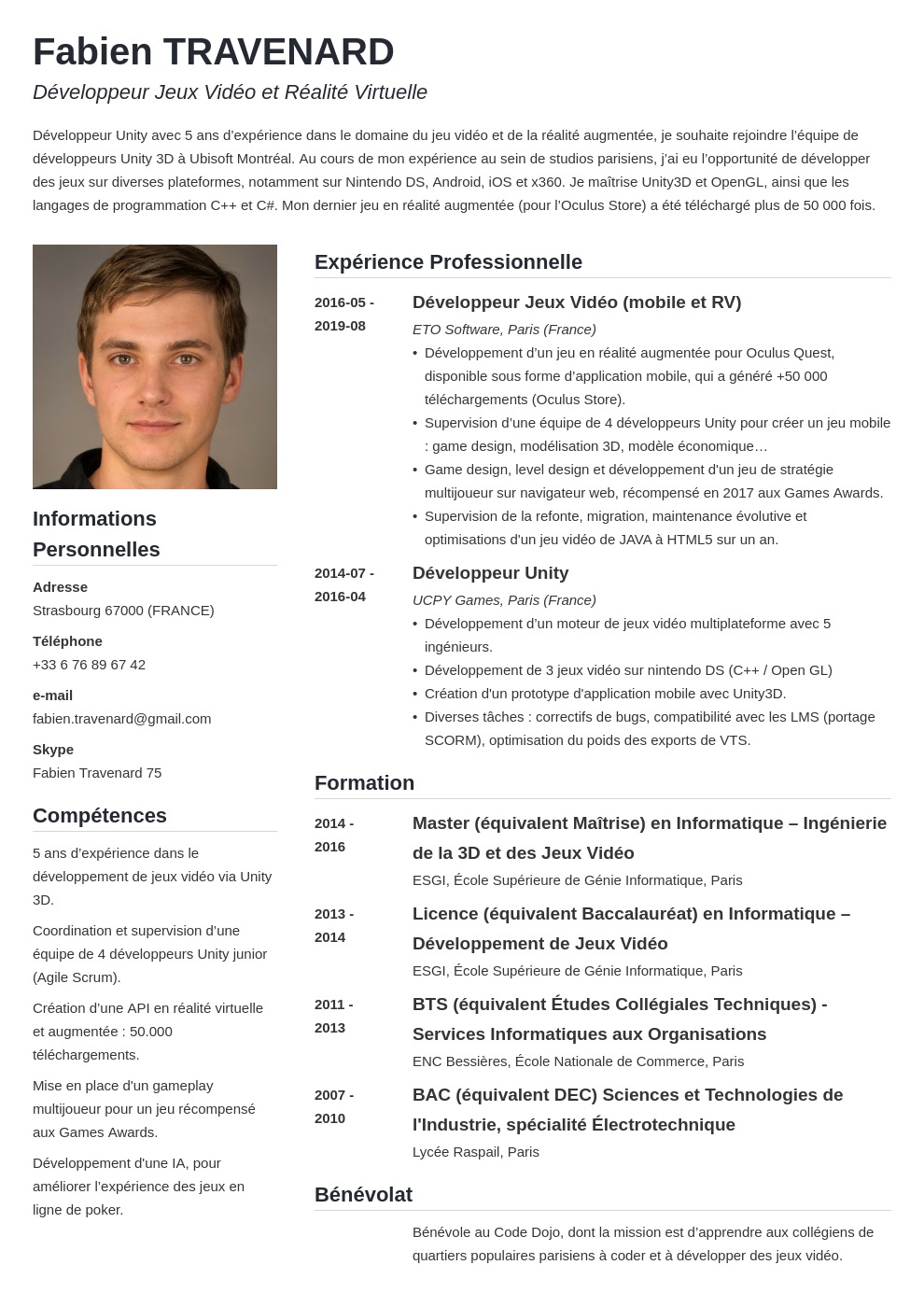 CV canadien : exemple de CV format Canada / Québec + pvt
