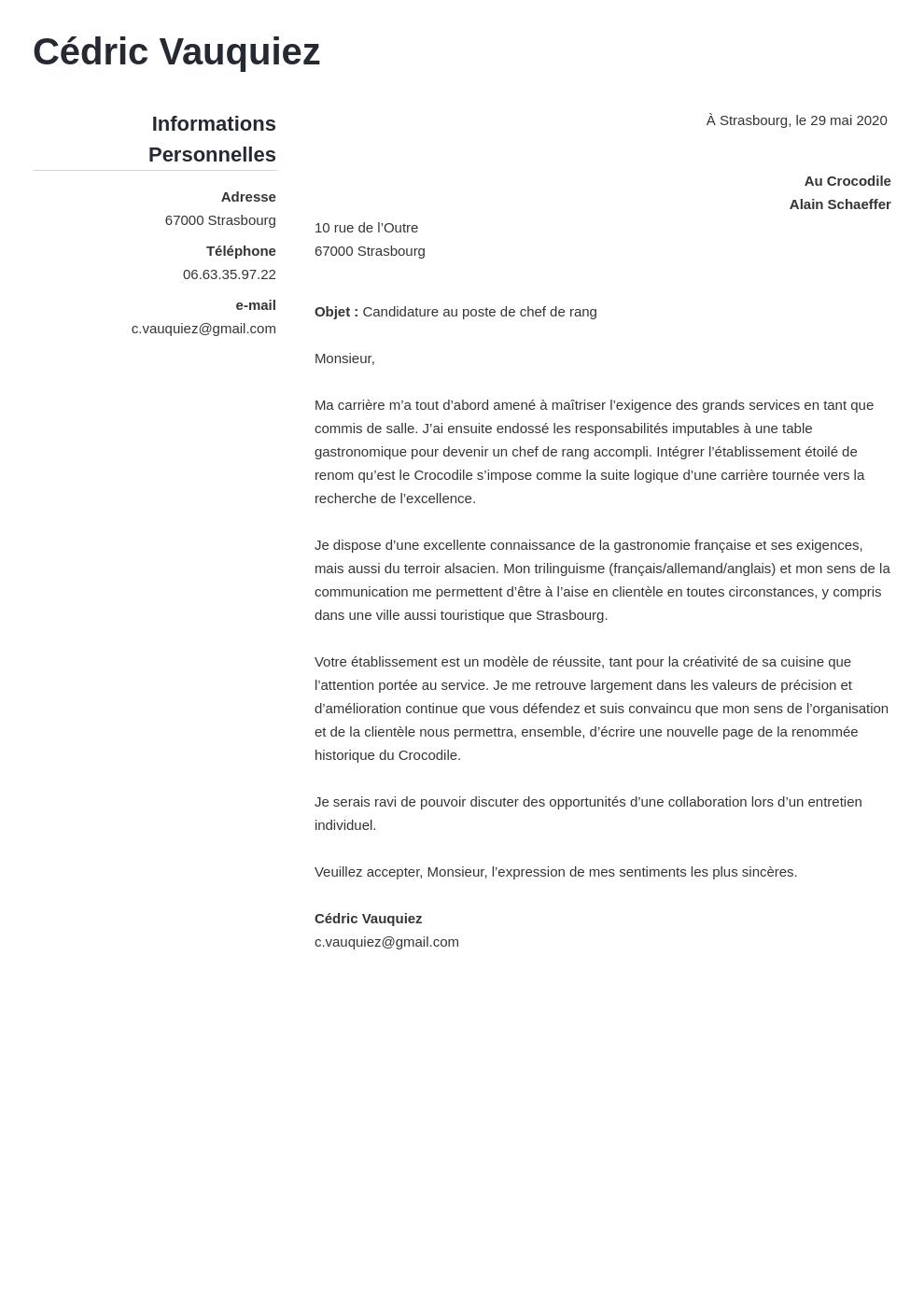 Lettre De Motivation Employé Polyvalent De Restauration ...