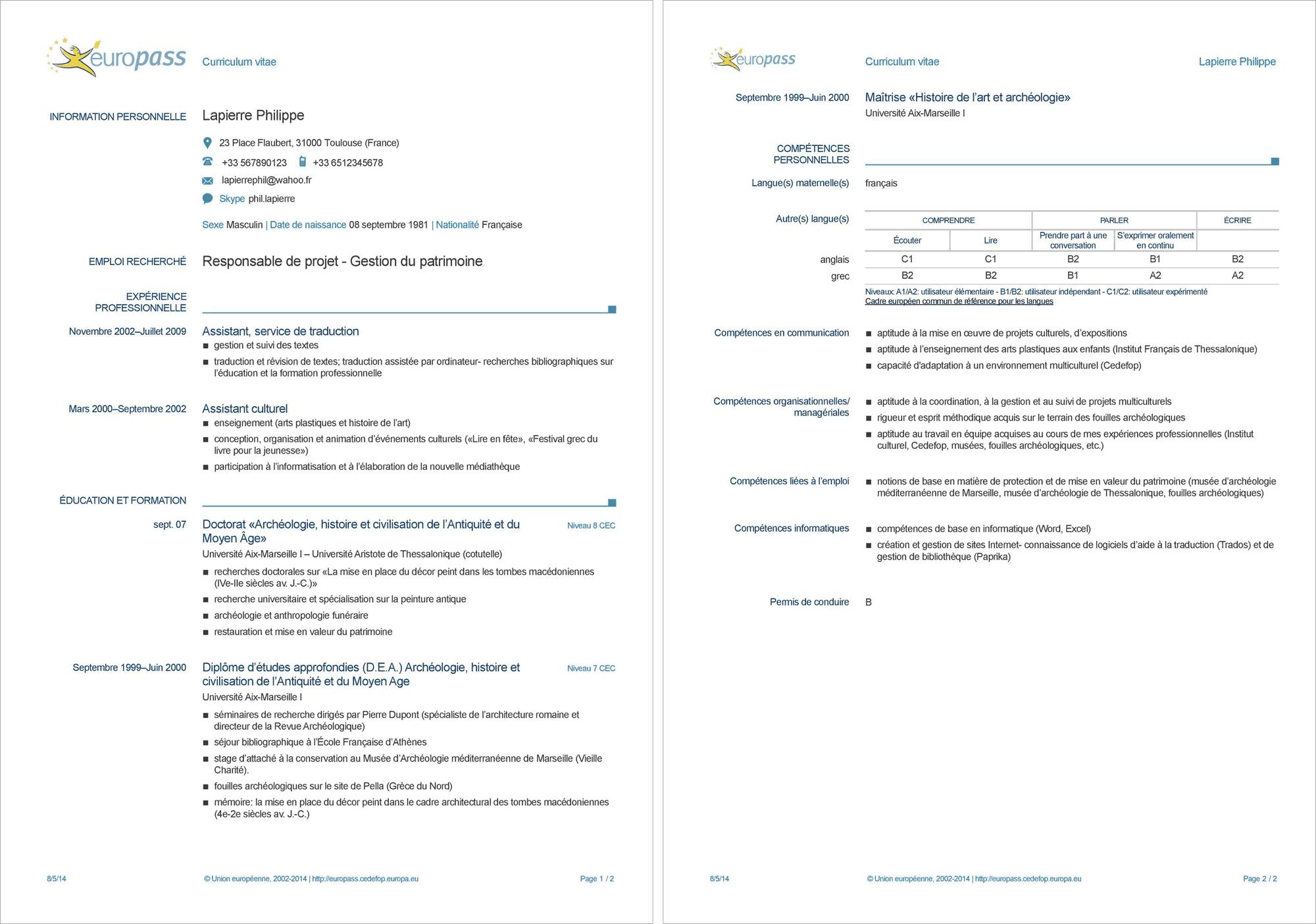 CV Europass : le CV format européen gratuit est-il efficace