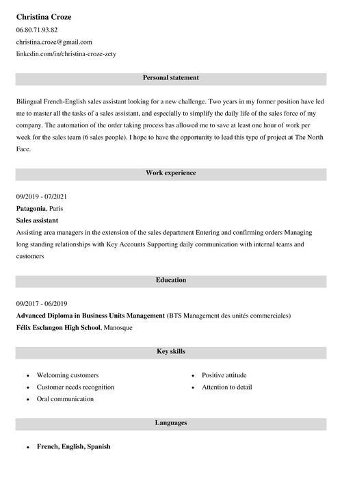 entretien embauche en anglais