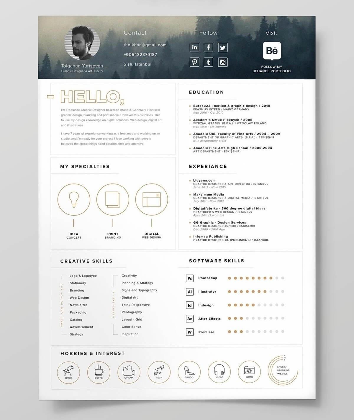 CV graphique : top 20 exemples de CV aux graphiques design