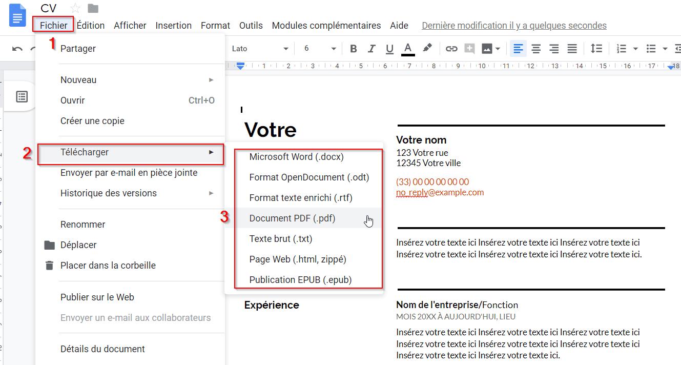 100 Modeles De Cv Gratuits En Ligne A Telecharger Et Remplir