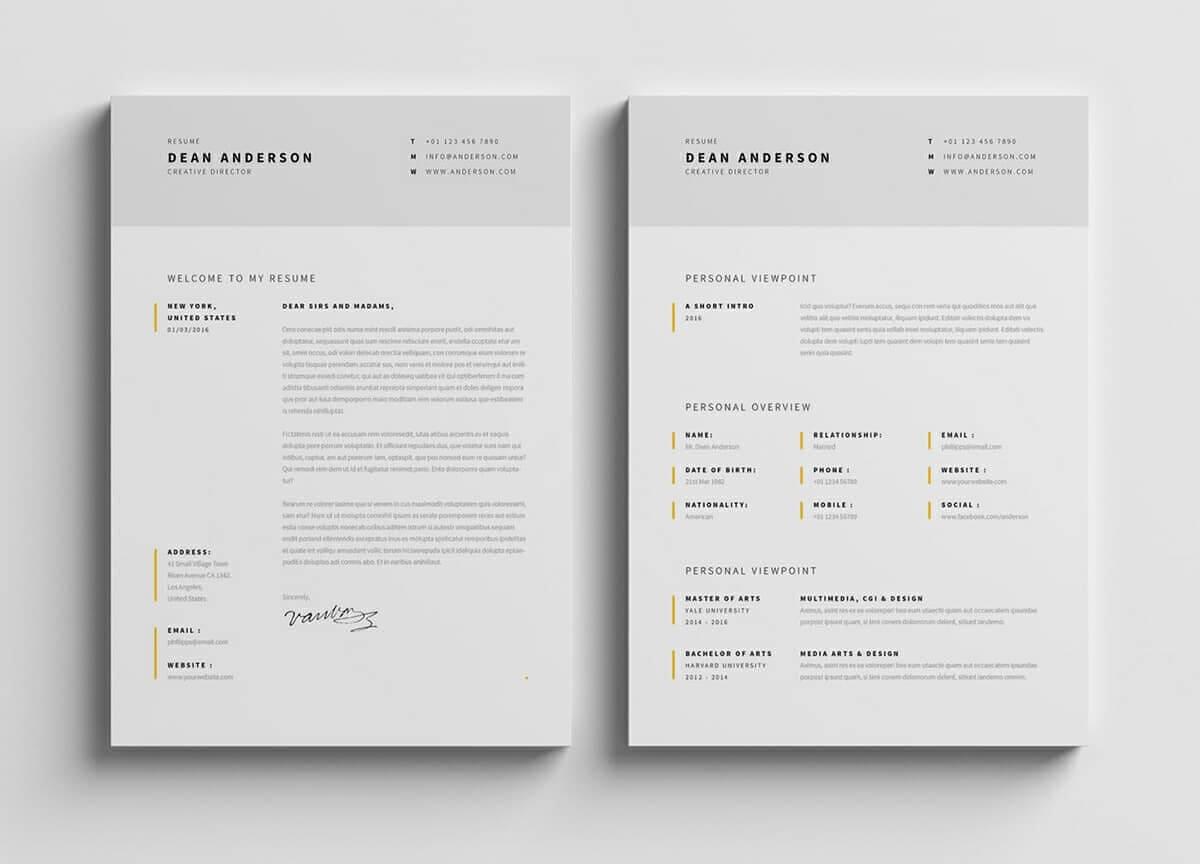 CV Photoshop : les 15 meilleurs templates de CV PSD du web