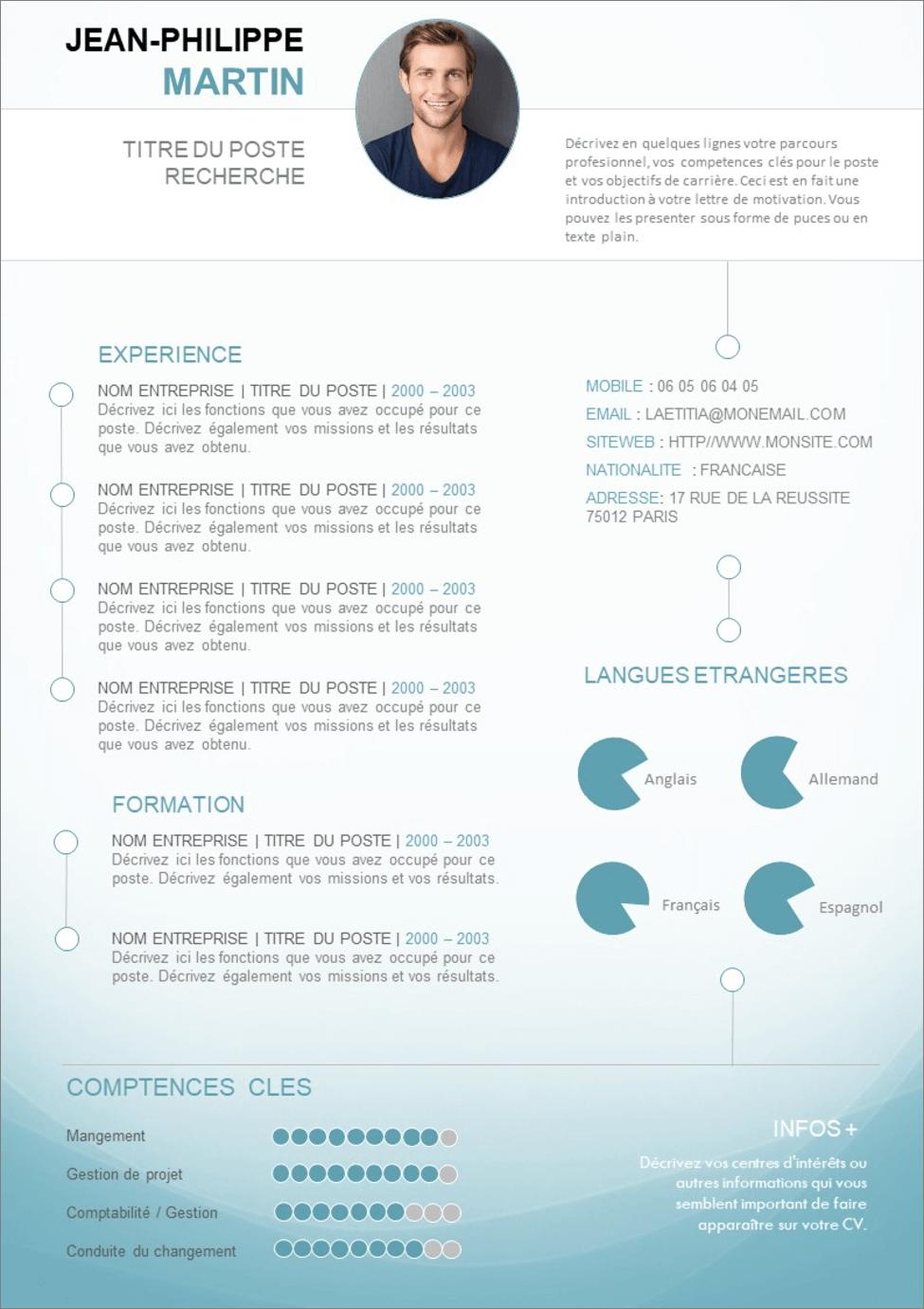 15 Modèles de CV Word gratuits et modernes à télécharger