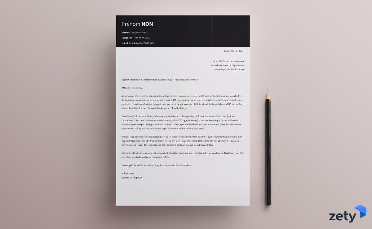 presentation lettre de motivation