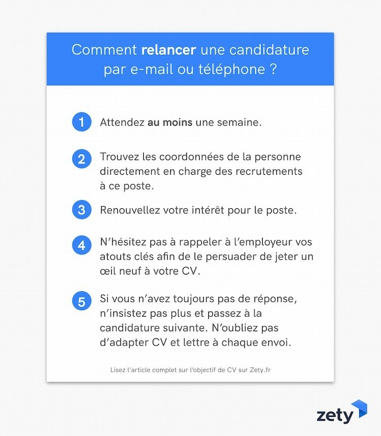 relance candidature