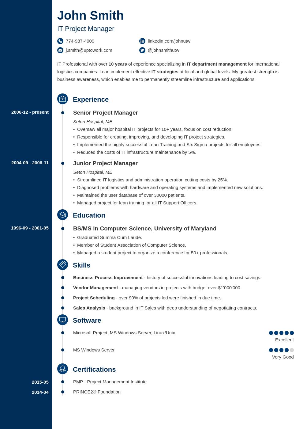 Modèle de CV professionnel Concept