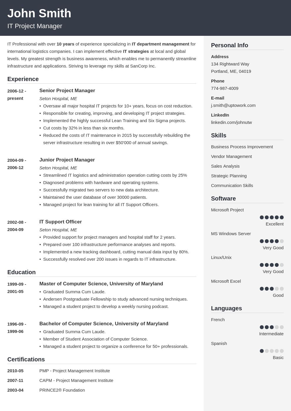 Modèle de CV professionnel Cubic