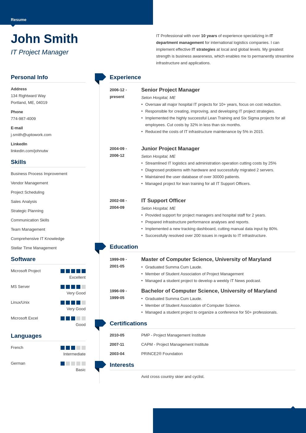 Modèle de CV professionnel Modern