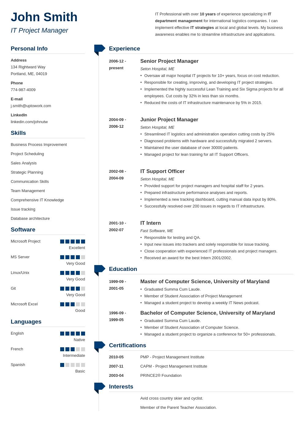 Modèle de CV professionnel Muse