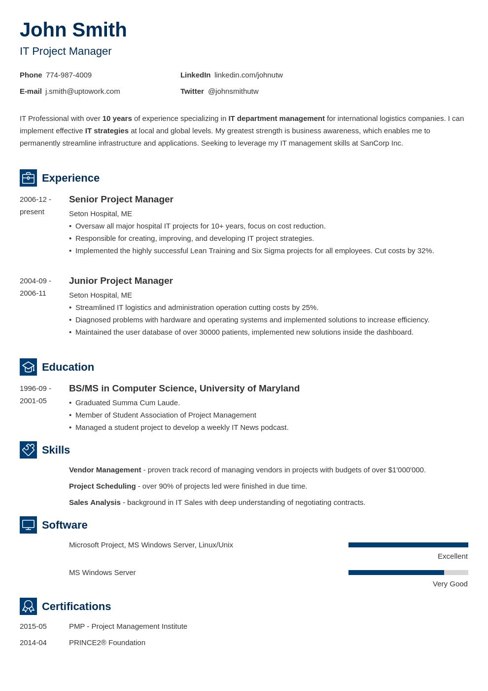 Modèle de CV professionnel Newcast